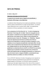 NOTA DE PRENSA - Steinemann Technology AG