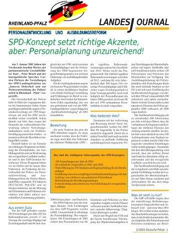 Journal Februar 2001 - gdp-deutschepolizei.de