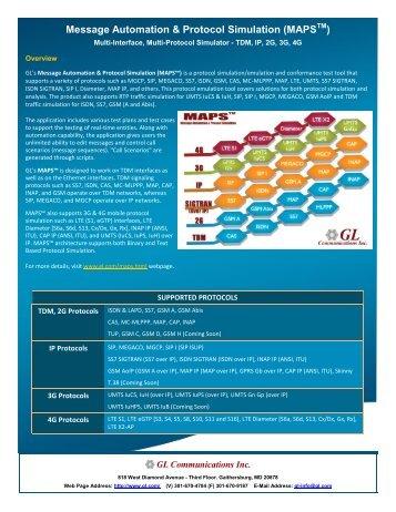 MAPS Brochure - GL Communications Inc