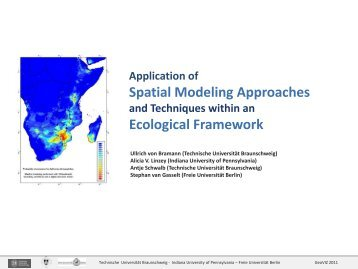 Application of Spatial Modeling Approaches and Techniques within ...