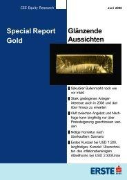Glänzende Aussichten Special Report Gold - GoldSeiten.de