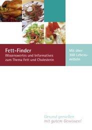 Fett-Finder - Gesundheitsberatung