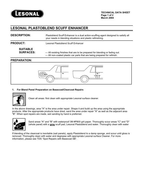 LESONAL PLASTOBLEND SCUFF ENHANCER - Globalsafetynet com