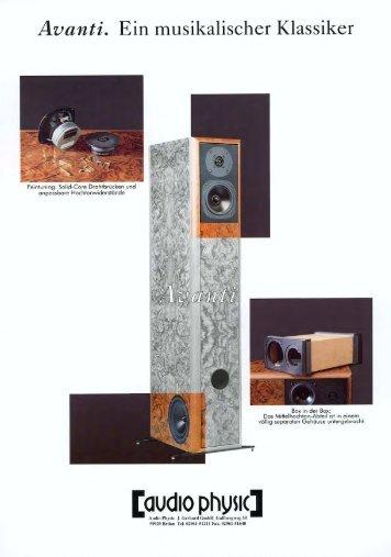 flyer Avanti german/english - Audio Physic