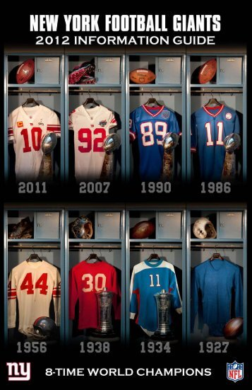 2012 Media Guide - New York Giants - NFL.com