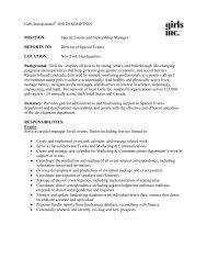 Job Announcement - Girls Inc.