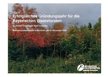 Präsentation anlässlich der ... - Bayerische Staatsforsten