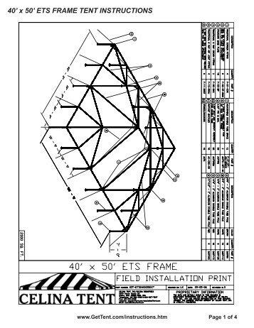 30\' x 50\' ETS FRAME TENT INSTRUCTIONS - Celina Tent