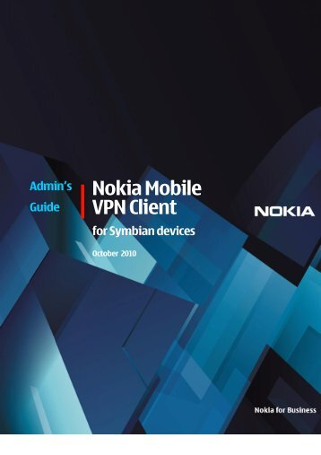 Nokia mobile vpn client for symbian devices