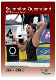2007/2008 Swimming Queensland Annual Report