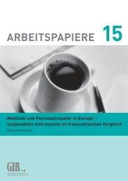 Arbeitspapiere 15 - Mobilität und Personaltransfer in ... - GIB NRW