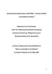Kosten-Nutzen-Bewertung im GKV-WSG – Ist ... - GlaxoSmithKline