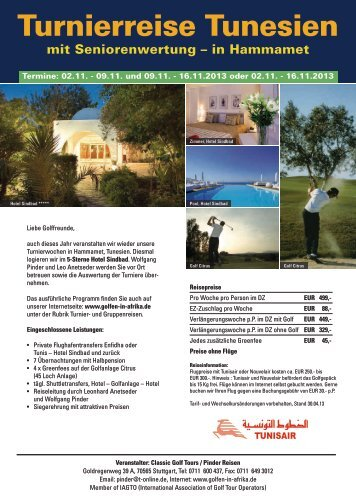 Turnierreise Tunesien