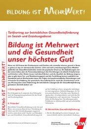 Bildung ist Mehrwert und die Gesundheit unser ... - GEW Bremen