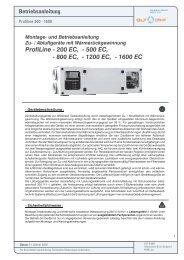 Betriebsanleitung Profiline 200-1600 - GLT Austria