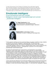 Emotionale Intelligenz - Advanced Leadership Consulting