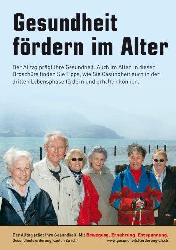 """Broschüre """"Gesundheit fördern im Alter"""" - Institut für Sozial- und ..."""