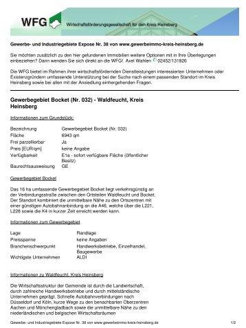 Gewerbegebiet Bocket (Nr. 032) - Wirtschaftsförderungsgesellschaft ...