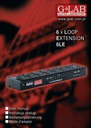 6x Loop Extension 6LE User Manual - G LAB