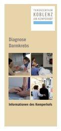 Flyer Diagnose Darmkrebs - Gemeinschaftsklinikum Koblenz-Mayen