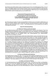 PO 2009 - Deutsches Seminar - Leibniz Universität Hannover