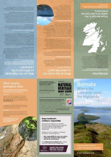 Balmaha - Geological Society of Glasgow