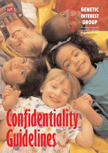 GIG CONFIDENTIALITY - Genetic Alliance UK