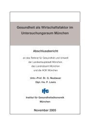 Abschlussbericht des Instituts für Gesundheitsökonomik IfG (1.7 MB)