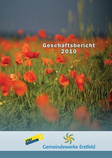 Jahresbericht 2010 - Gemeindewerke Erstfeld