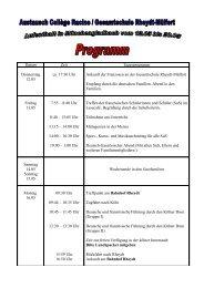 Programm unseres Austauschs - Gesamtschule Rheydt-Mülfort