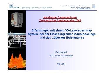 Erfahrungen mit einem 3D-Laserscanning - Geomatik-hamburg.de