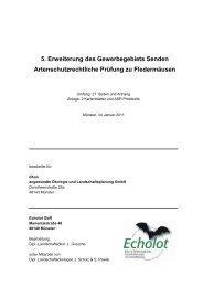 Artenschutzrechtliche Prüfung zu Fledermäusen - Gemeinde Senden