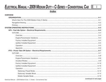 Electrical gm upfitter electrical manual 2009 medium duty c series gm upfitter sciox Choice Image