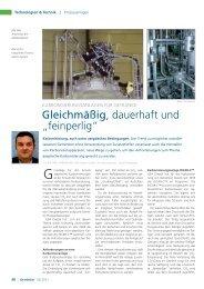 """Gleichmäßig, dauerhaft und """"feinperlig"""" - GEA Diessel GmbH"""