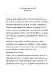 Einbringungsrede Haushaltsentwurf 2013 - Gemeinde Westerkappeln