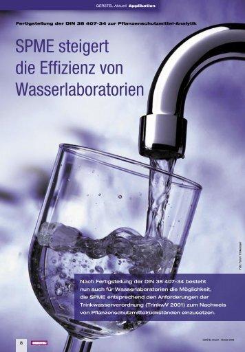 SPME steigert die Effizienz von Wasserlaboratorien