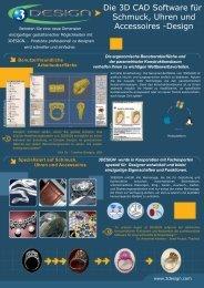 Die 3D CAD Software für Schmuck, Uhren und Accessoires -Design