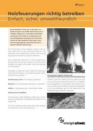 Holzfeuerungen richtig betreiben - AWEL Amt für Abfall, Wasser ...