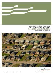 CITY OF GREATER GEELONG 2012-2013 Rating StRategy