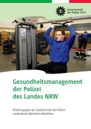 Gesundheitsmanagement der Polizei des Landes NRW - GdP