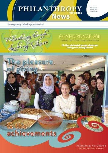 Magazine 55 Autumn 2011.pdf - Philanthropy New Zealand