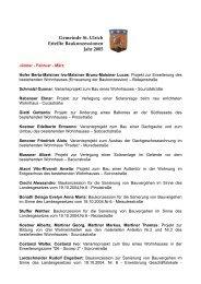 Gemeinde St. Ulrich Erteilte Baukonzessionen Jahr 2005