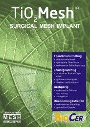 Flyer deutsch Tio2mesh - Biocer Entwicklungs Gmbh