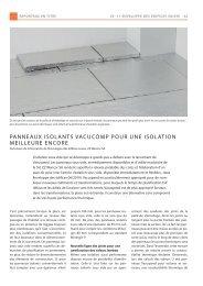 PanneaUX isOlants VaCUCOMP POUr Une isOlatiOn MeilleUre ...