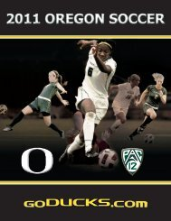 2011 OREGON SOCCER - GoDucks.com
