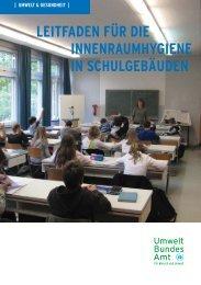 Leitfaden für die Innenraumhygiene in Schulgebäuden, Ausgabe 2008