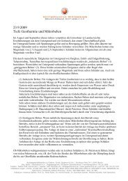 23.9.2009 Tiefe Geothermie und Mikrobeben
