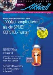 GERSTEL Aktuell Nr. 24 (pdf; 1,76 MB) - Gerstel GmbH & Co.KG