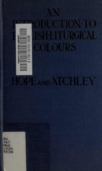 English Liturgical Colors - The Global Library