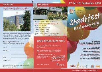 17. bis 19. September 2010 - Godesberg Stadtmarketing eV